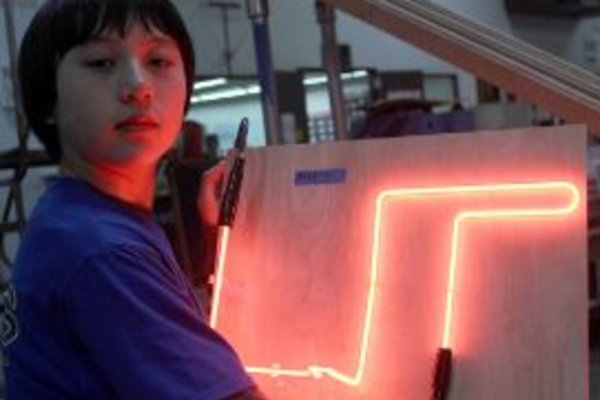 Youth glass tube sculpture intro to neon