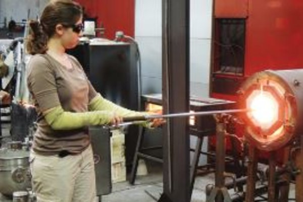 Youth glass blowing immersion program