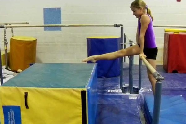 Girls gymnastics level 1b2