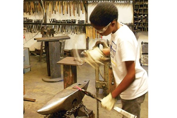 Youth blacksmithing immersion program