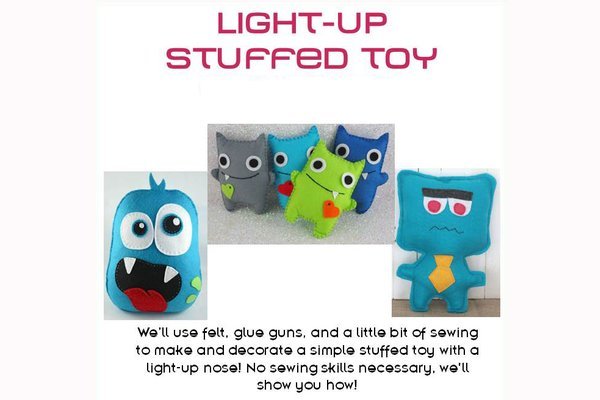 Light up stuffed toy