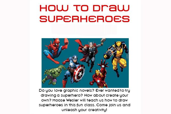 Learn to draw superheroes